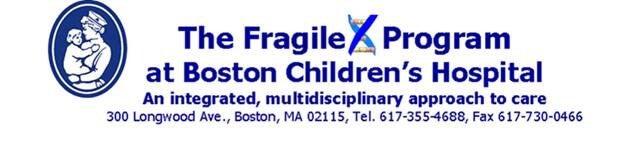 Boston Children's Hospital - Fragile X Program