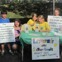 Lemonade stand fragile x fundraiser