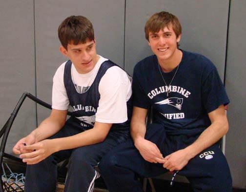 Jake with his favorite basketball partner, Daniel