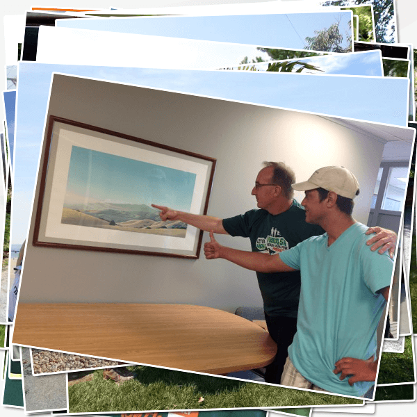 Robert Miller and Sam Harrigan plan their Mt Diablo Hike
