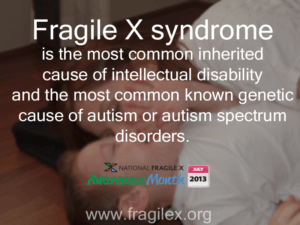 One of the Fragile X Facts we've released on Facebook.