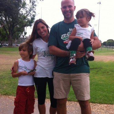 Nick Henning and family for the NFXF Let Em Know 5K!