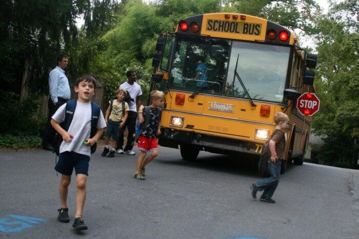The school bus routine by woodlewonderworks