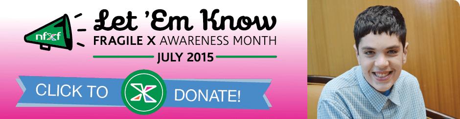 Fragile X Awareness Month 2015-slide