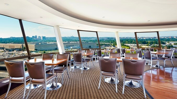 Skydome Lounge with view of Pentagon