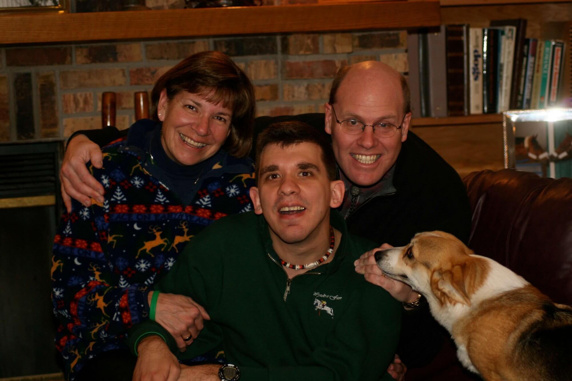 Fragile X family with dog