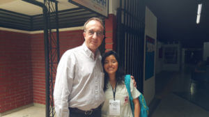 The author with young Colombian medical student/interpreter.