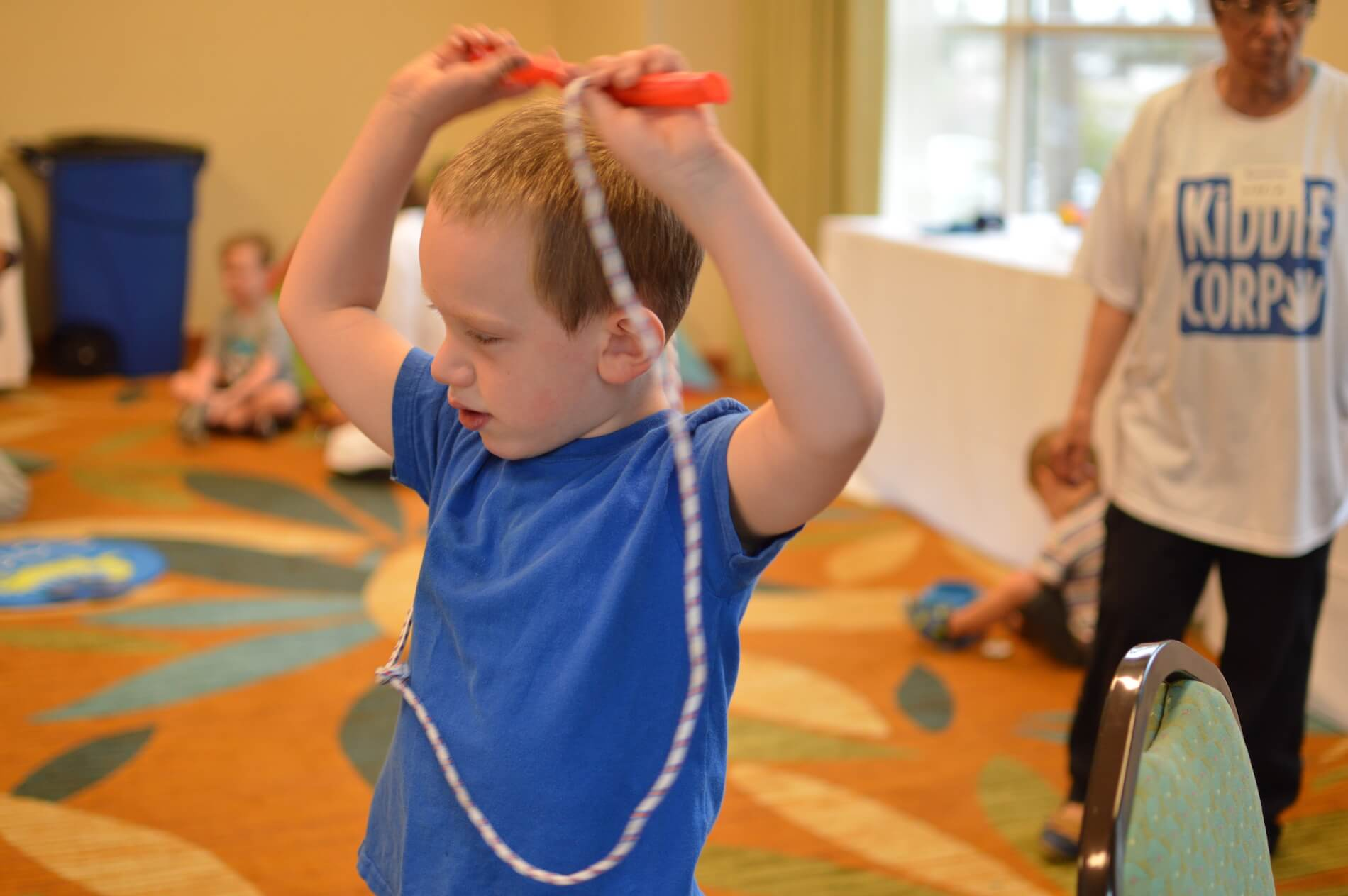 Child with rope