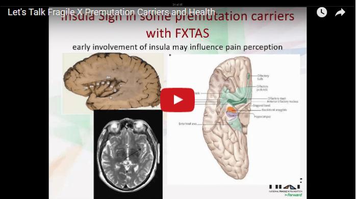 Let's Talk Fragile X Premutation Carriers and Health