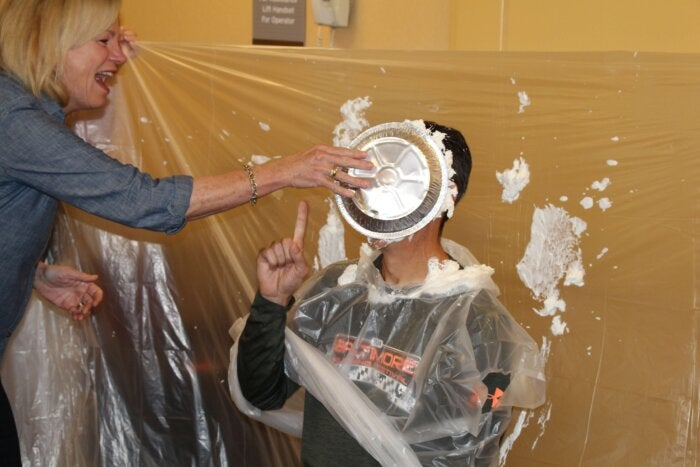 Tony AnythingForFragileX Pie in the Face