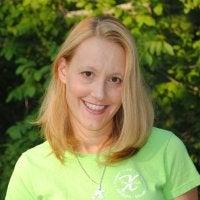 diane southard - female, bright yellow/green shirt