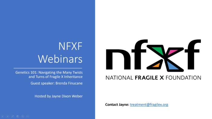 NFXF Webinar Genetics