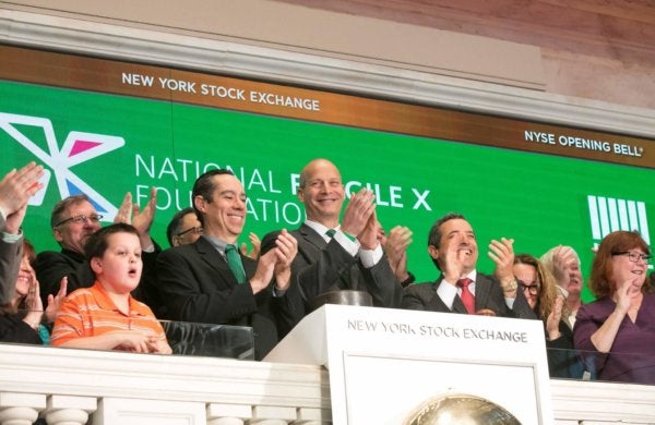 New York Stock Exchange bell ringing