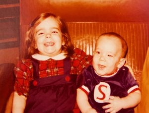 Niclaire and Kyle as children