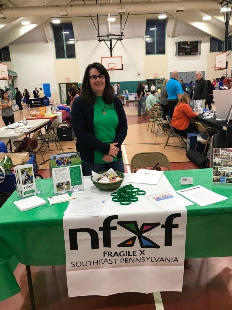 Kara Frech at the NFXF SE Pennsylvania Chapter resrource fair