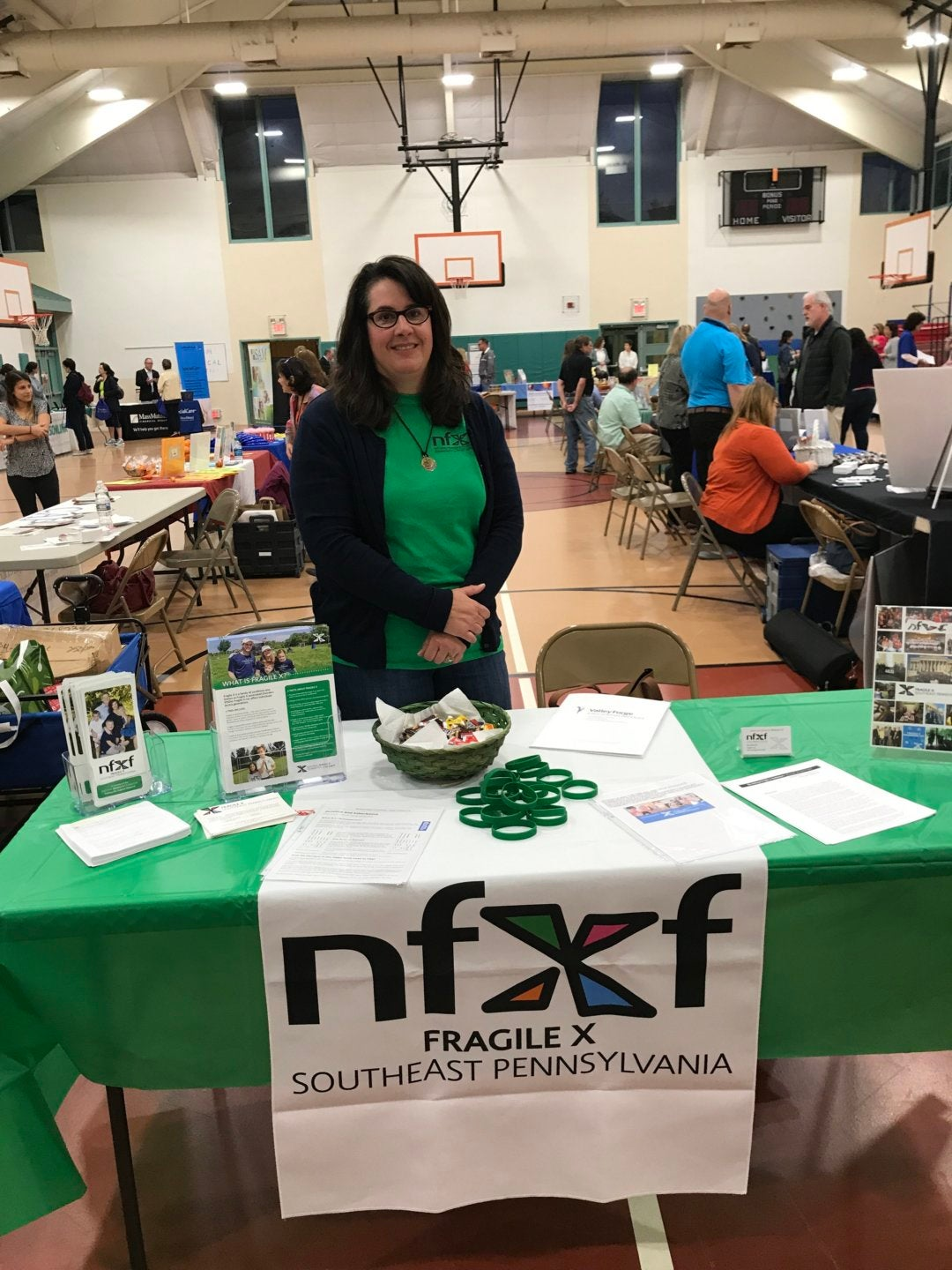 Kara Frech at the NFXF SE Pennsylvania Chapter resrource fair