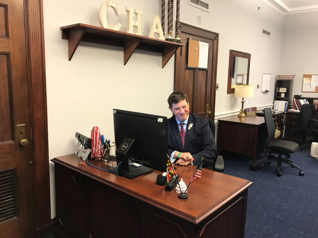 Dillon Kelley at work in Congress