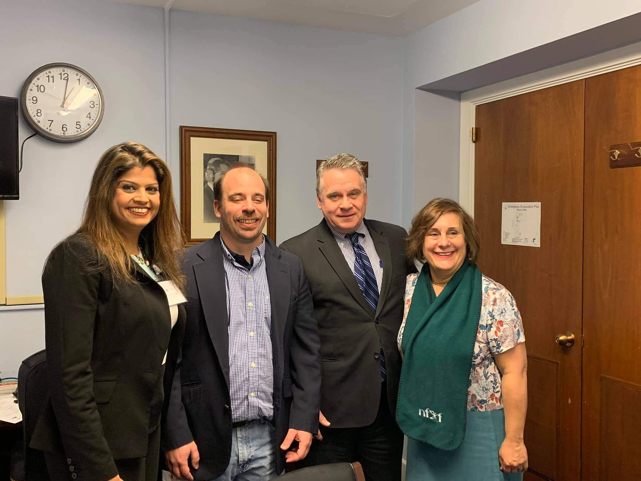 Rep. Chris Smith and NJ NFXF Advocates in 2019