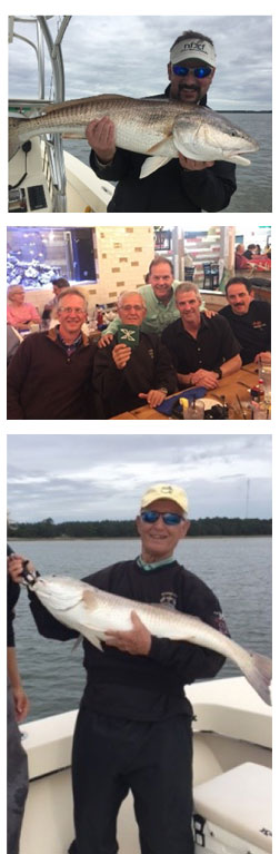 Fishing for a Cure group out for food and drinks and 2 fish caught