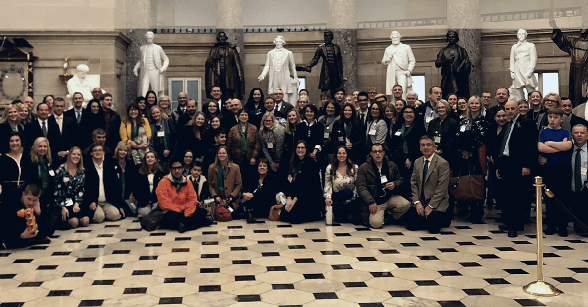 Advocates gathered on Advocacy Day in Washington DC