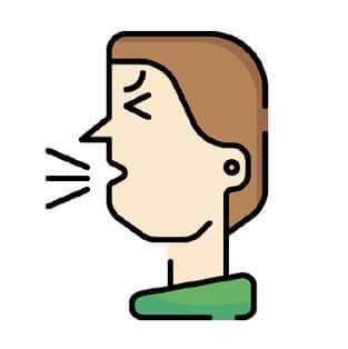 Man coughing.