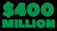 $400 million