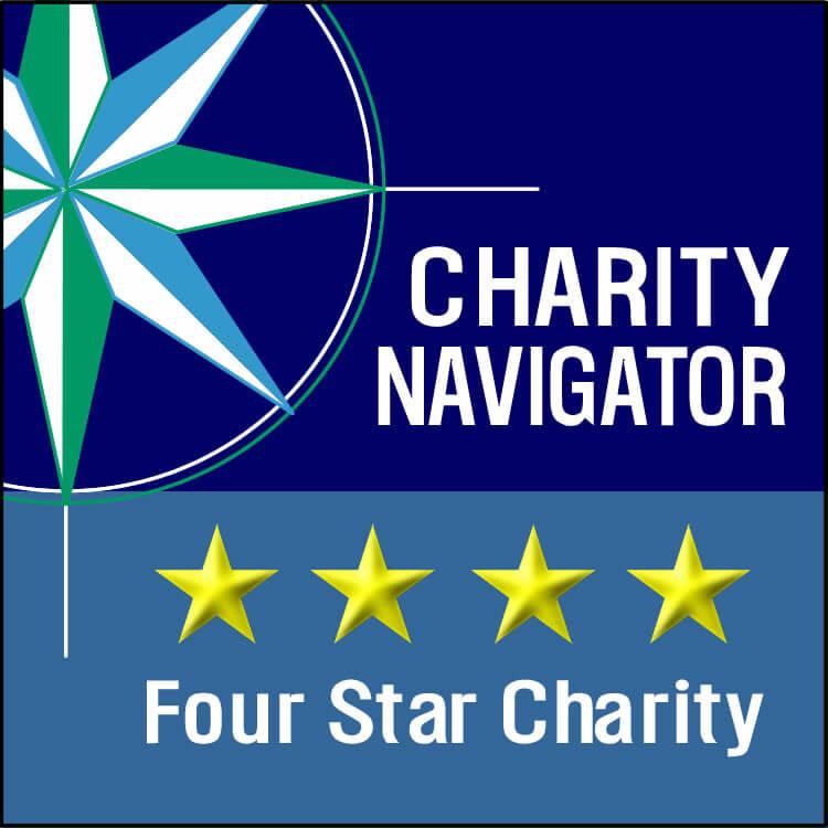 Charity Navigator Four-Star Charity logo