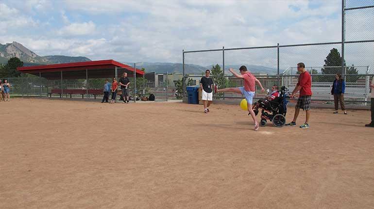 APE in a baseball field