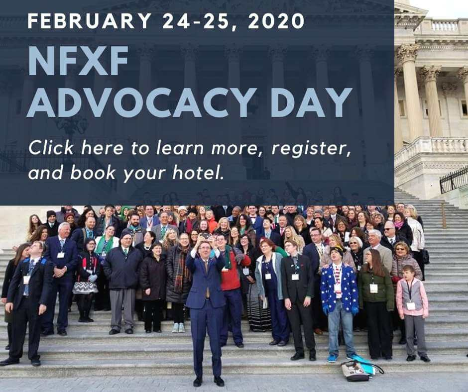 NFXF Advocacy Day Feb 24-25 2020 click here to learn more, register, and book your hotel