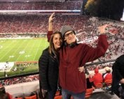 Bryan and Paige at a University of Georgia football game
