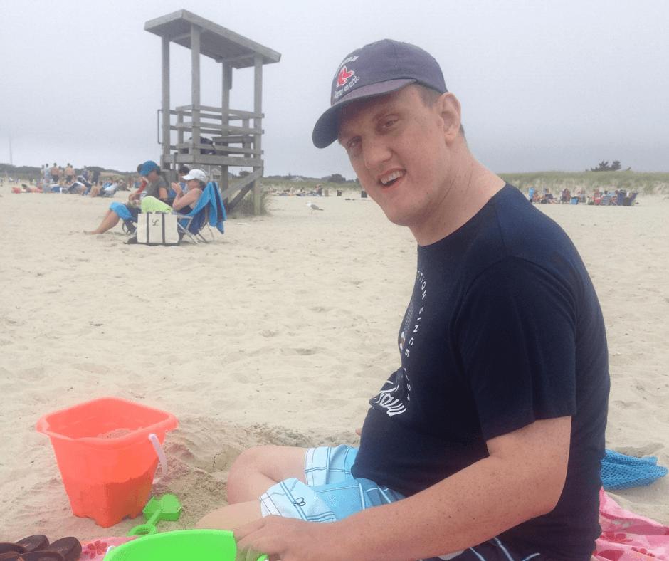 Patrick Devine at the beach