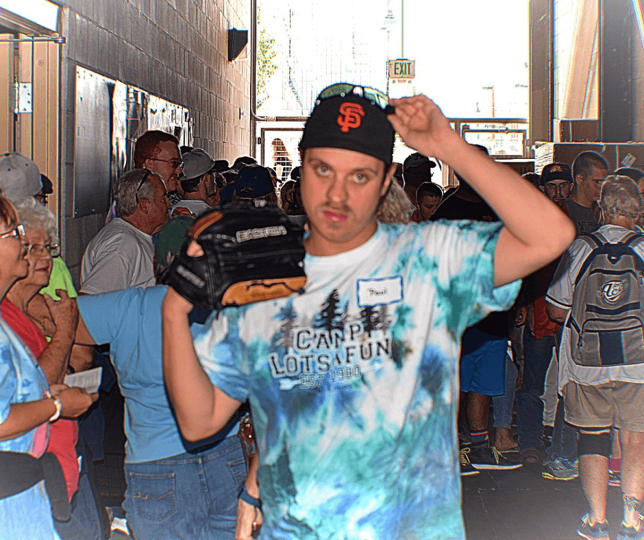 Faces of Fragile X Paul at baseball camp