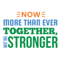 Now more than ever, together, we're stronger logo