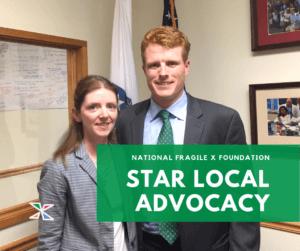 Kelly Quaye and Rep. Joe Kennedy