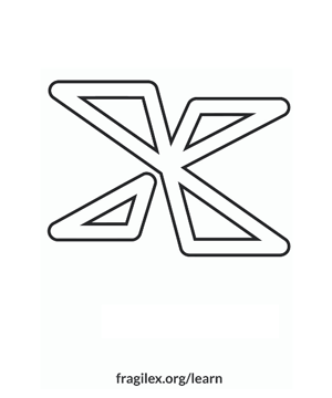 Coloring pages for downloading, X logo