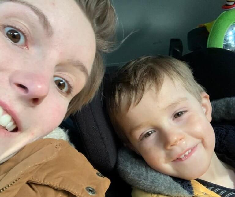 Eppie with her son