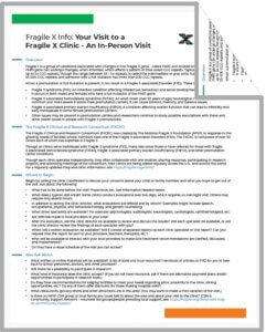 Fragile X clinics PDF cover