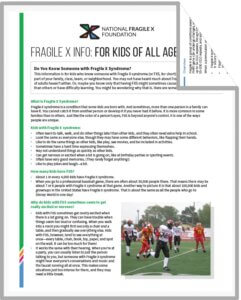 Fragile X Info for Kids PDF cover
