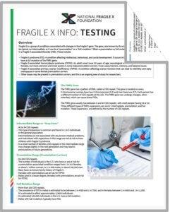 Fragile X testing PDF cover