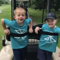 Marner children out on the golf course during fundraiser for Fragile X