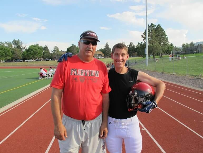 Coach Z and Ian, a football coach and the team equipment manager and spare quarterback