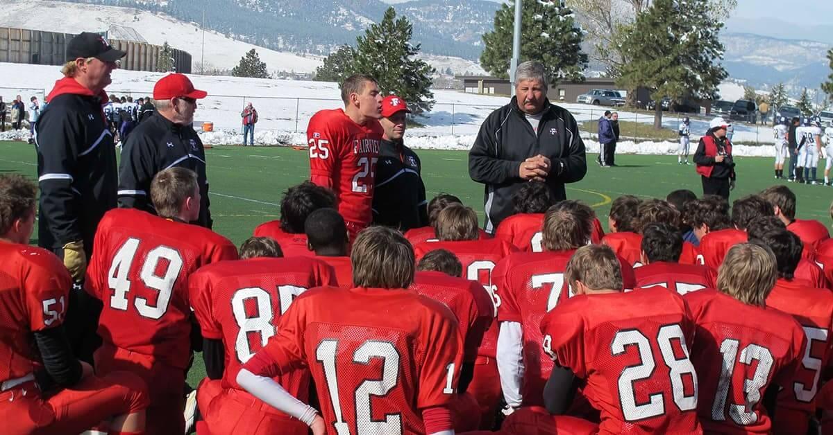 Ian and his high school football teammates