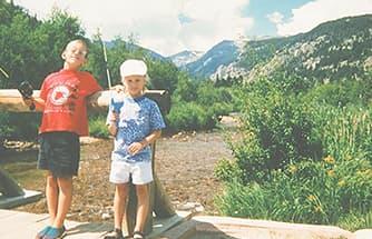 Ian and his sister fishing