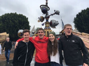 Alec, Jake, Laura, and Jack at Disneyland (Anaheim, Calif.) in 2018.