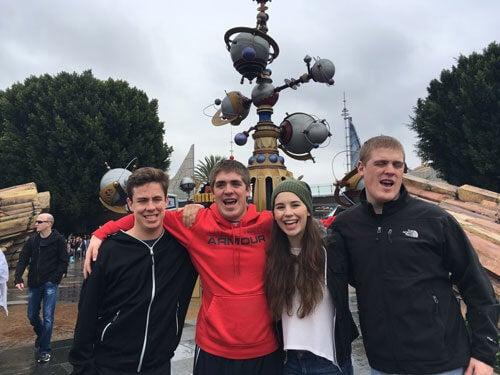 Alec, Jake, Laura, and Jack at Disneyland (Anaheim, Calif.) in 2018.