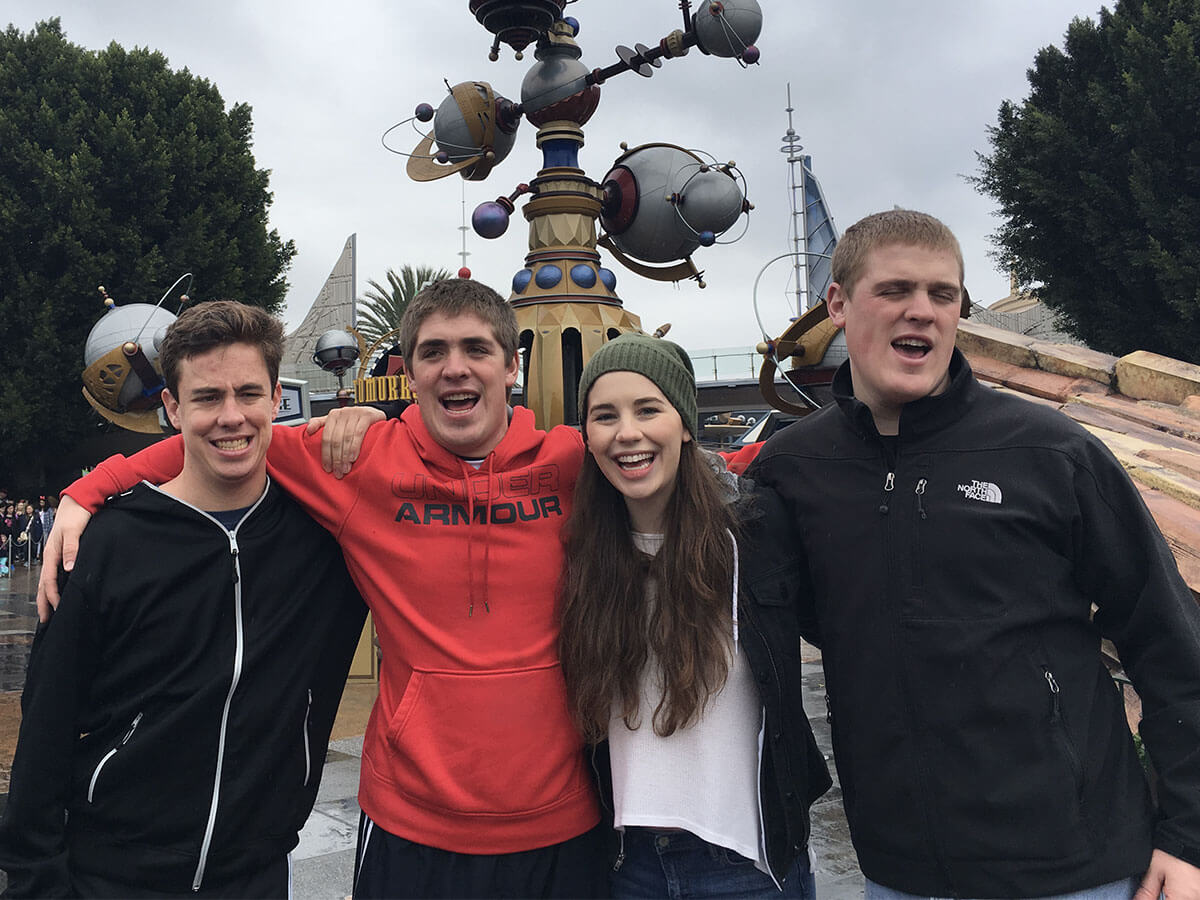 Featured Image: Alec, Jake, Laura, and Jack at Disneyland (Anaheim, Calif.) in 2018.