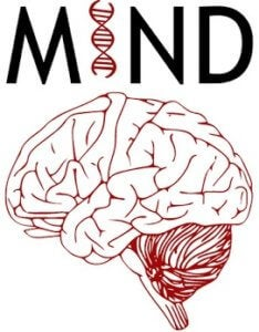 MIND Group at the University of Minnesota logo featuring an illustration of a brain and a dna strand
