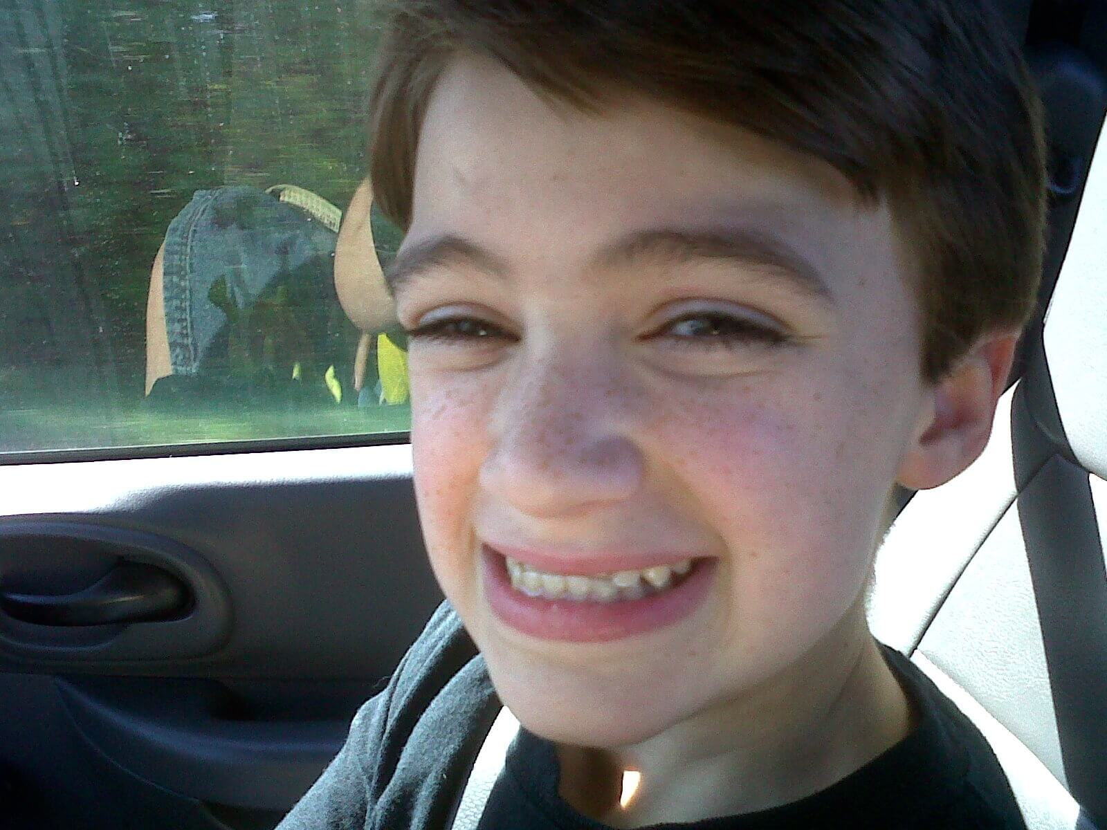 Mitchell smiling
