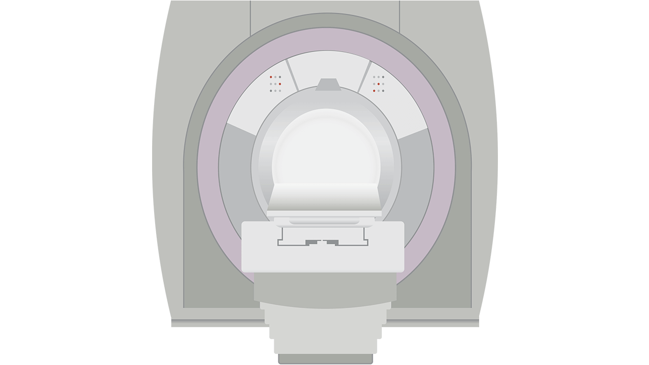 Illustration of an MRI machine. Illustration by LJNovaScotia at Pixabay.