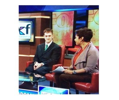 Nick Hertzig in an appearance on TV in Washington, DC, during Advocacy Days